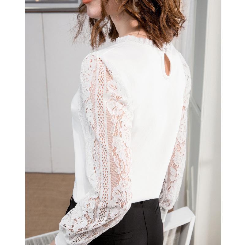 Cucitura a maniche lunghe da donna a maniche lunghe da donna che dimagrisce la maglietta Top T-shirt