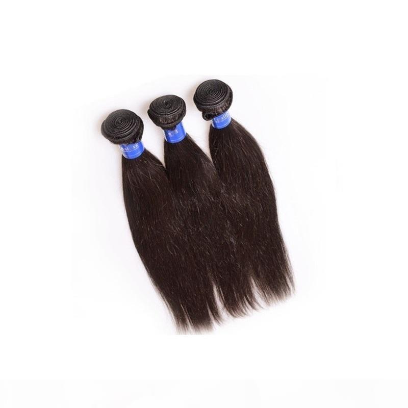 Beautysister hair products brazilian straight hair bundles weaves 3 4 pcs lot non-remy grade 100% human hair made natural color no shedding