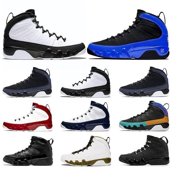 2021 Basketbol Ayakkabıları 9 9 S Racer Mavi Bred UNC Spor Salonu Kırmızı Erkek Spor Eğitmenler Sneakers Boyutu 40-47
