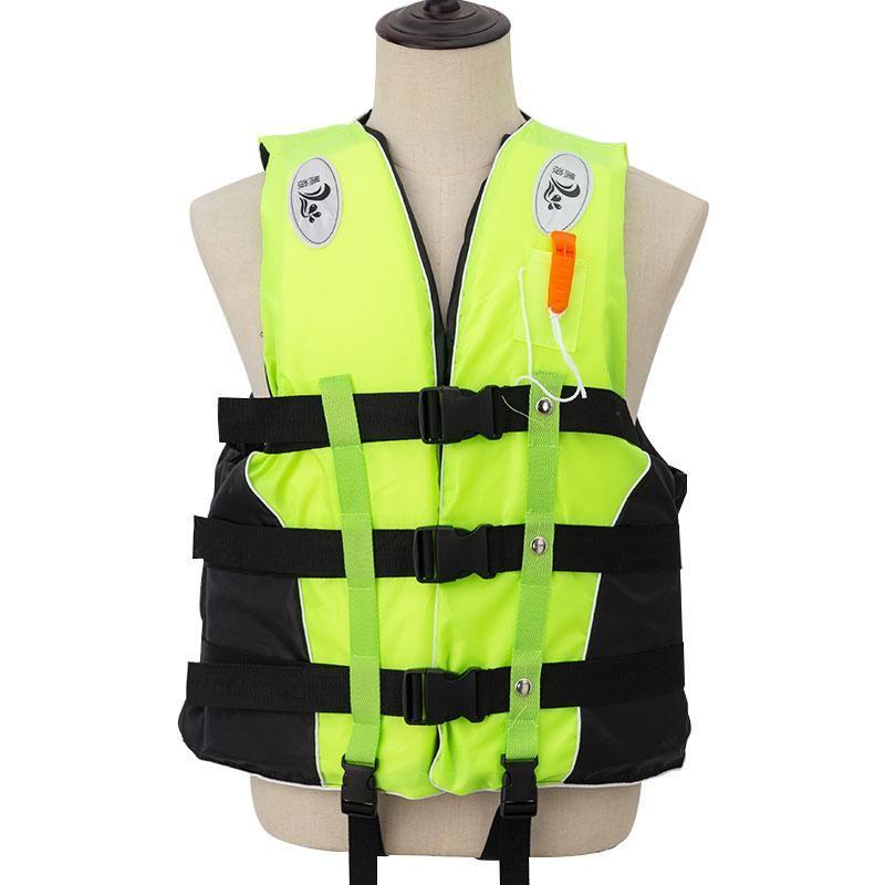 Hayat Yelek Şamandıra Yetişkin Iskırır Ile M-XXXL Boyutları Ceket Yüzme Botla Kayak Sürücü Su Sporları Adam Çocuk Polieste
