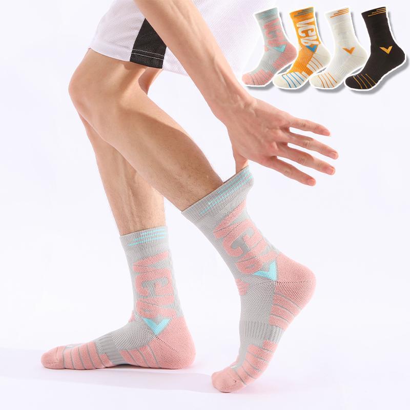 Men's Socks 3 Pairs/Lot Basketball Cycling Sport Sockings Cotton Running Professional Thick Anti-Slip Soft Damping Men Women