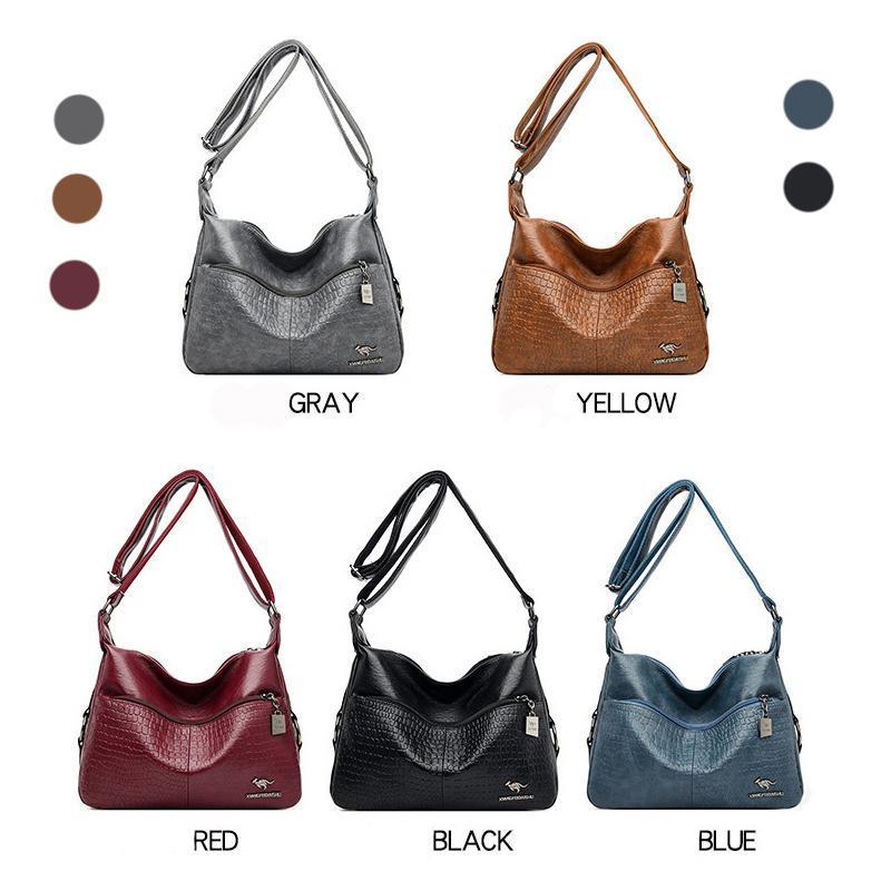 여성을위한 가죽 크로스 바디 가방 고품질 어깨 용량 핸드백 여행 디자이너 Bolsa Feminina Totes