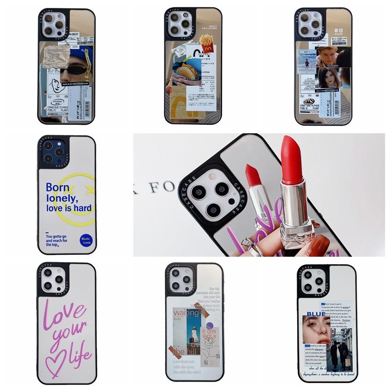 2021 Fashion Mirror Soft TPU Cases For iphone 12 Pro Mini 11 XS MAX XR X 8 7 Plus 6 6S Creative Words CD Mail Design Sexy Girl Lady Women Silicone Luxury Mobile Phone Cover