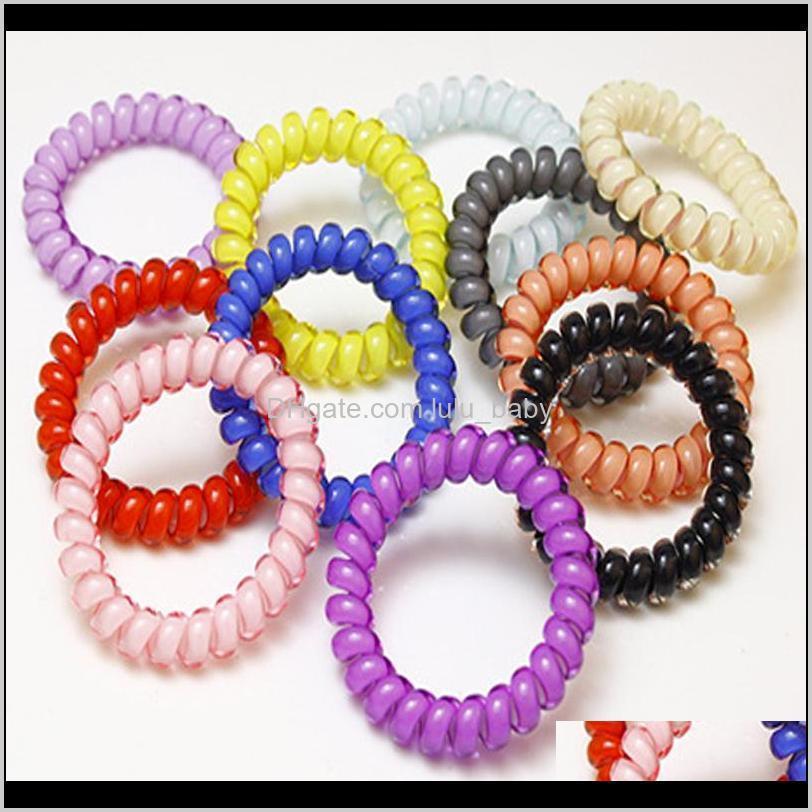 Aksesuarlar Şeker Renk Telefon Tel Hattı Esneklik Lastik Band Elastik Hairbands Saç Halat Gils Scrunchy Bantlar için Sakız Bahar F0UUQ