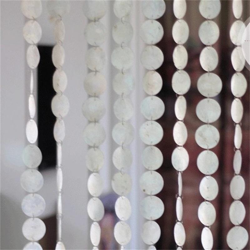 Curtain Natural Shells Poluição-free Cortinas Partição Indoor Decorativo Wind Chimes Curtains Hotel Decoração Cortinas de Porta 769 R2