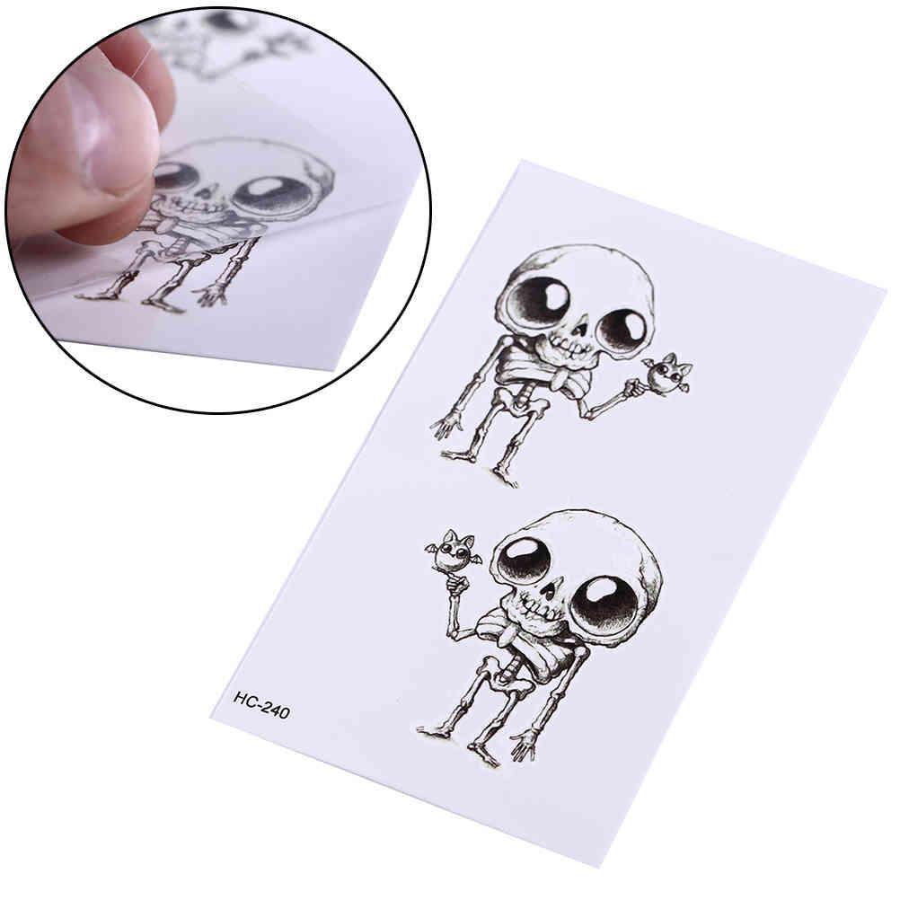 Nouveau autocollant de tatouage temporaire imperméable amusant d'alien au henné au henné corporel art tatouage flash tatoo faux tatouages pour filles femmes hommes