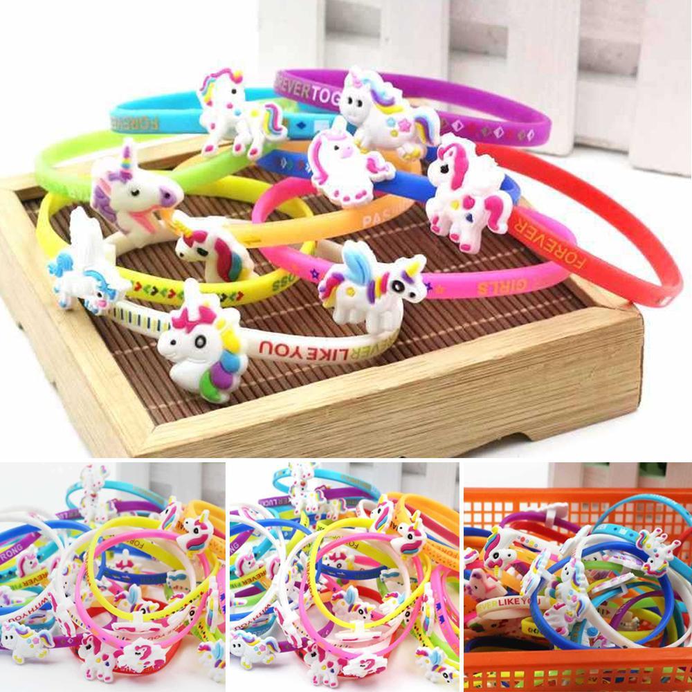 Fashion Unicorn Silicone Bracelet Charm Sports Wristband Home Party Jewelry Lovely Gifts Decoration GWB7766