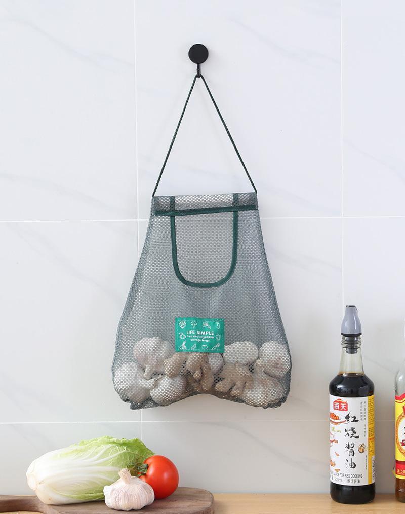 Storage Bags Reusable Hanging Bag Fruit Vegetable Net Sundry Kitchen Onion Garlic Mesh Easy Clean