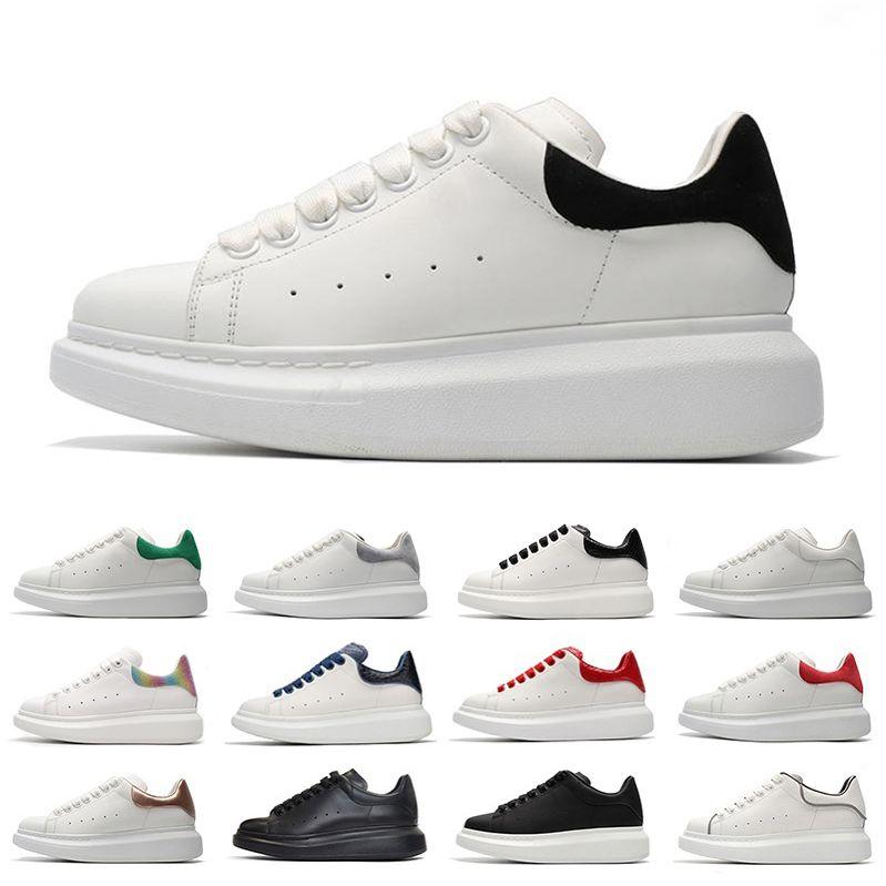 أزياء منصة أحذية رجالي عادية الارتفاع زيادة جلد الثعبان الثلاثي أسود أبيض أحمر منخفض قطع جلد مسطح جلد الغزال الرجال النساء أحذية رياضية