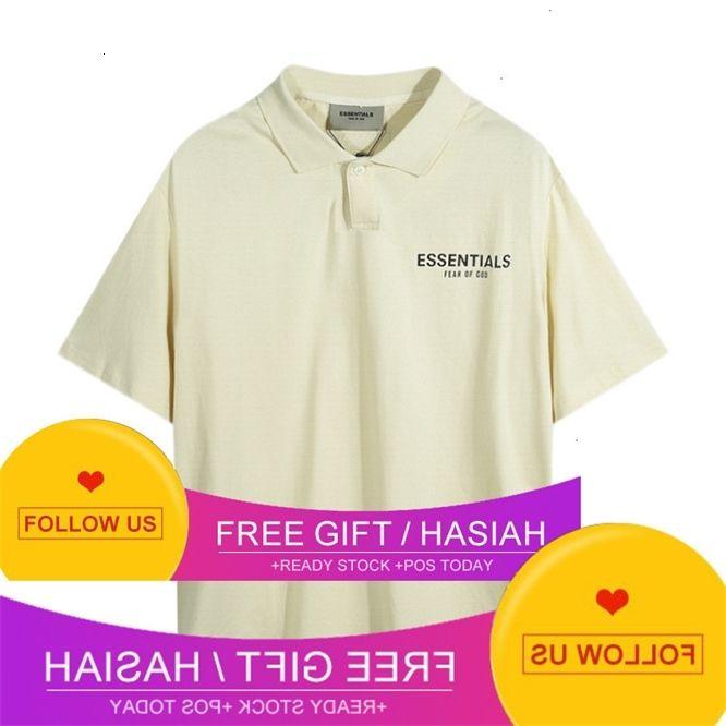 Peur de Dieu Essentials Double ligne Ligne Lettre Polo T-shirt Polo Couple Couple T-shirt à manches courtes Y0507