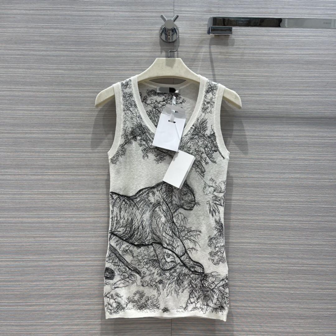 2021 Tanques de Mujer Camis Verano Autumn U Cuello Sin mangas Marca Mismo Estilo Chaleco Diseñador Abrigos de Lujo 0719-5