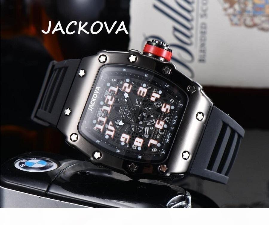 Automatic Watch Hollow Skeleton Designer Sapphire Waterproof Super Luminous Silicone Strap Mens Watch