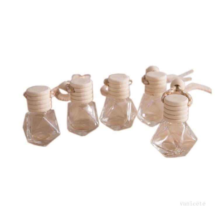 Car Perfume Bottle Pendant Perfume Rrnament Air Freshener Essential Oils Diffuser Fragrance Empty Glass Bottle T2I51849