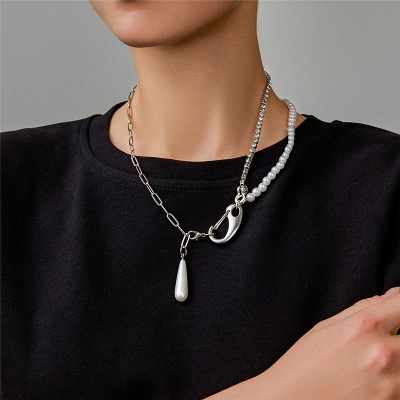 Silber modernes Design Metallgelenkte Kette Perlenkette personalisierte einstellbare kühle Hip Hop für Frauen Männer 2021 Chokers