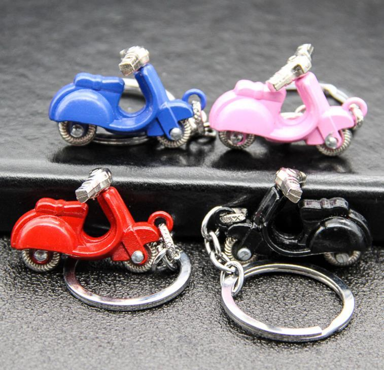 50Pcs Fashion Women Key Rings Stylish 3D Motorcycle Scooter Car KeyChains Keyfob Classic Electric Cars Keyring Pendant Unisex Gift HYS68-2-2