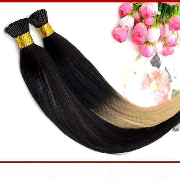 """Extensions de cheveux Fusion Ombre Kératin Extensions I TIP 18 """"20"""" T Conseil T-TIP EMBRE EXTENSIONS1G S 100G Remy Indien humain"""