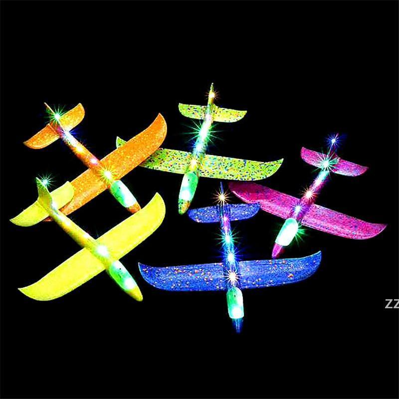 장난감 모델 거품 비행기 48cm 손 던지는 비행기 항공기 모델 어린이 글라이더 빛나는 장난감 해상 HWB9230