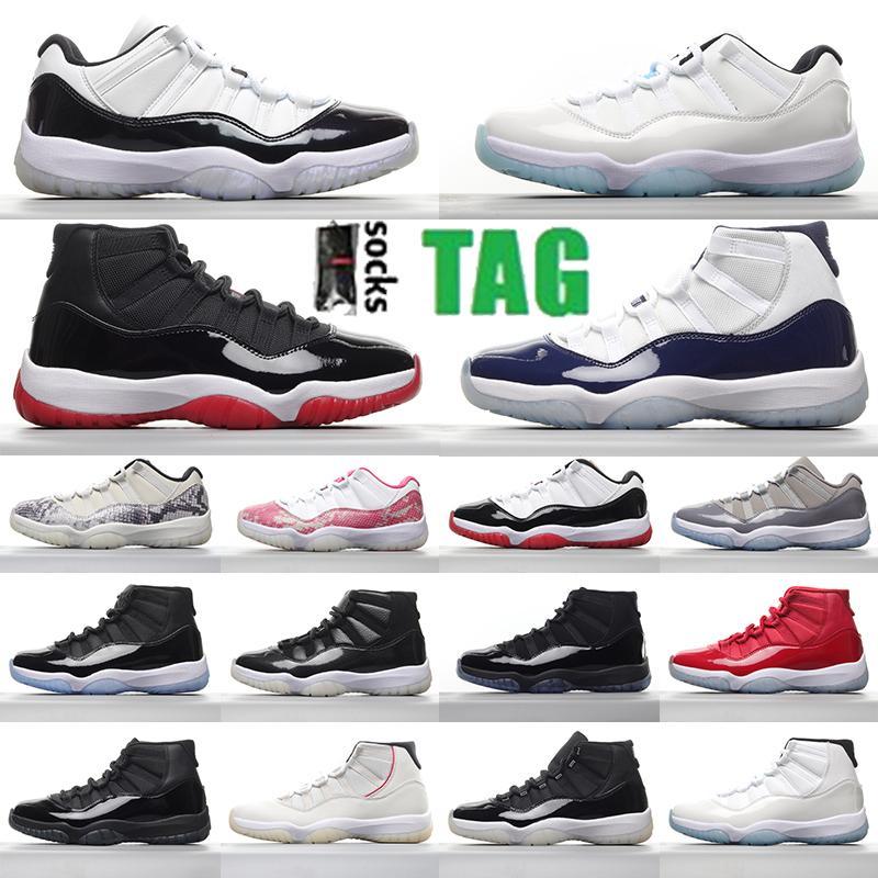 Air Jordan 11 retro jordans 2021 Nouveau Jubilee Bred jumpman 11 11s Chaussures de basketball Midnight Marine Space Confiture Gamma Blue Pâques Concord 45 Low