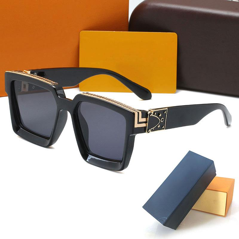 good quality Womans Sunglasses 96006 Luxury Fashion Mens Sun glasses UV Protection men Designer eyeglass Gradient Metal hinge eye women spectacles with cases box