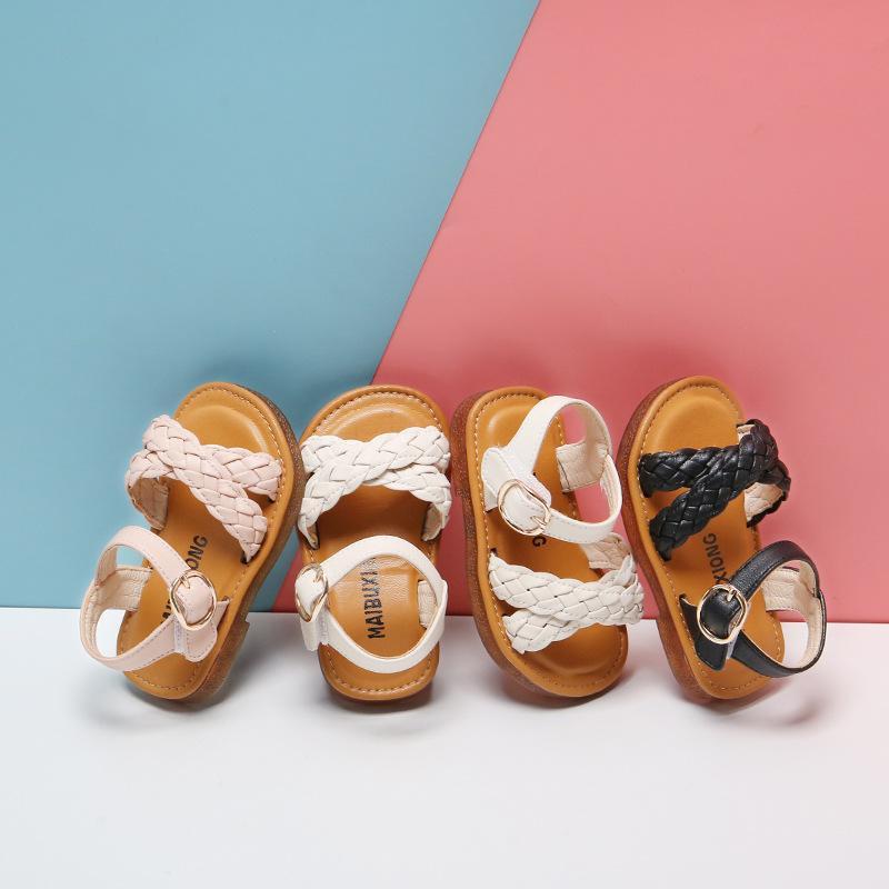 الصيف طفل الفتيات الصنادل لمدة 1-2-3 سنوات الأميرة الأحذية الأم الأميرة طفل الشقق بو ليتشاق سدادات بلون