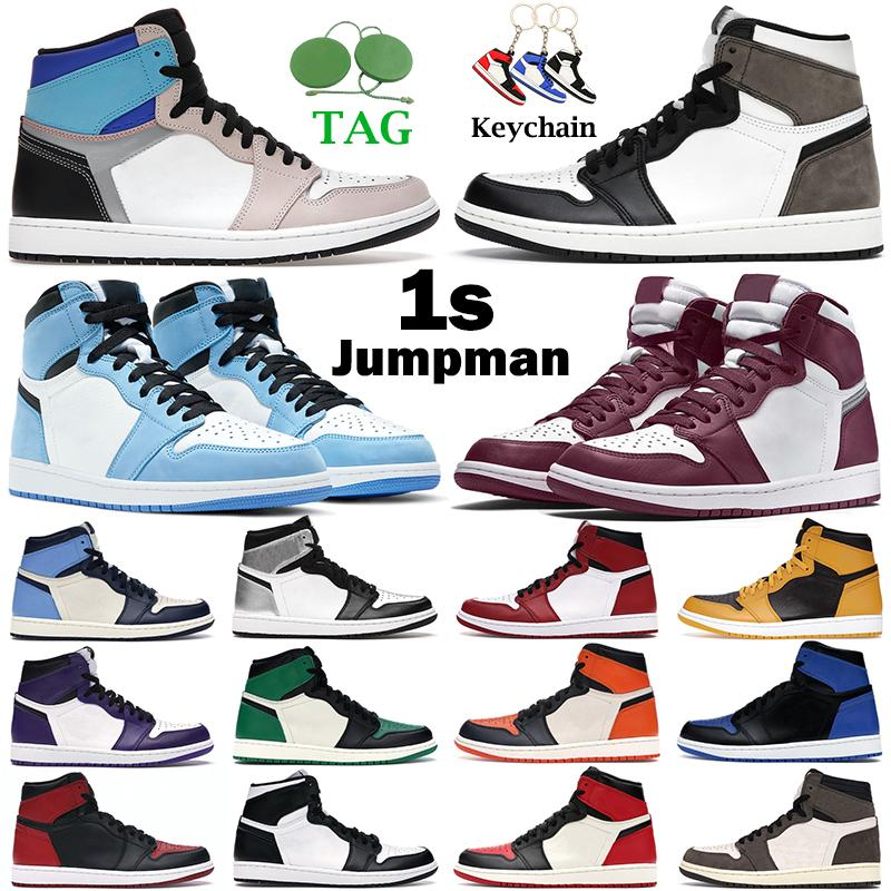 air jordan retro 1 basketball shoes uomo donna jumpman scarpe da basket 1s alta Military Blue Electro Orange Shadow 2.0 Hyper Royal University Scarpe da ginnastica da uomo bandite