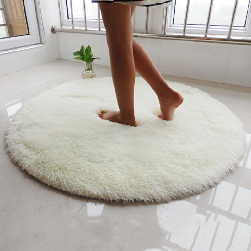 Teppiche Langer Plüsch Runde Teppich Für Wohnzimmer Teppich Kinder Flauschige Shaggy Teppiche Schlafzimmer Faux Pelzbereich Home Moderne Matte
