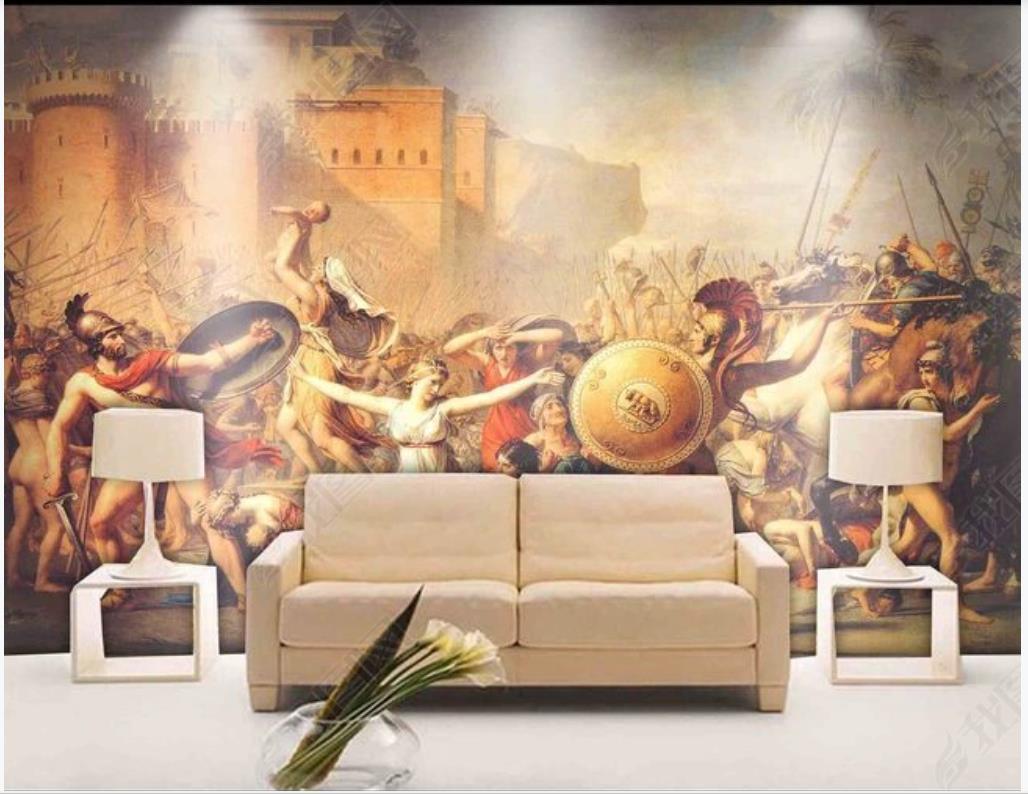Wallpapers personalizado po papel de parede 3d murais modernos hd europeu clássico personagem paisagem pintura de óleo de pintura de fundo