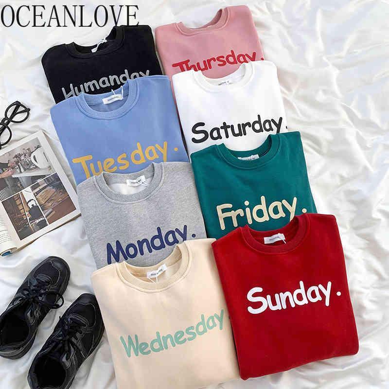Oceanlove Sweats à Sweats à Sweats à Sweats à Sweats à Sweats à Sweats à Sweats à Sweat à capuche d'hiver Automne Preppy Style Preppy Style Pull Sweatshirts InS Mode 19368 210513