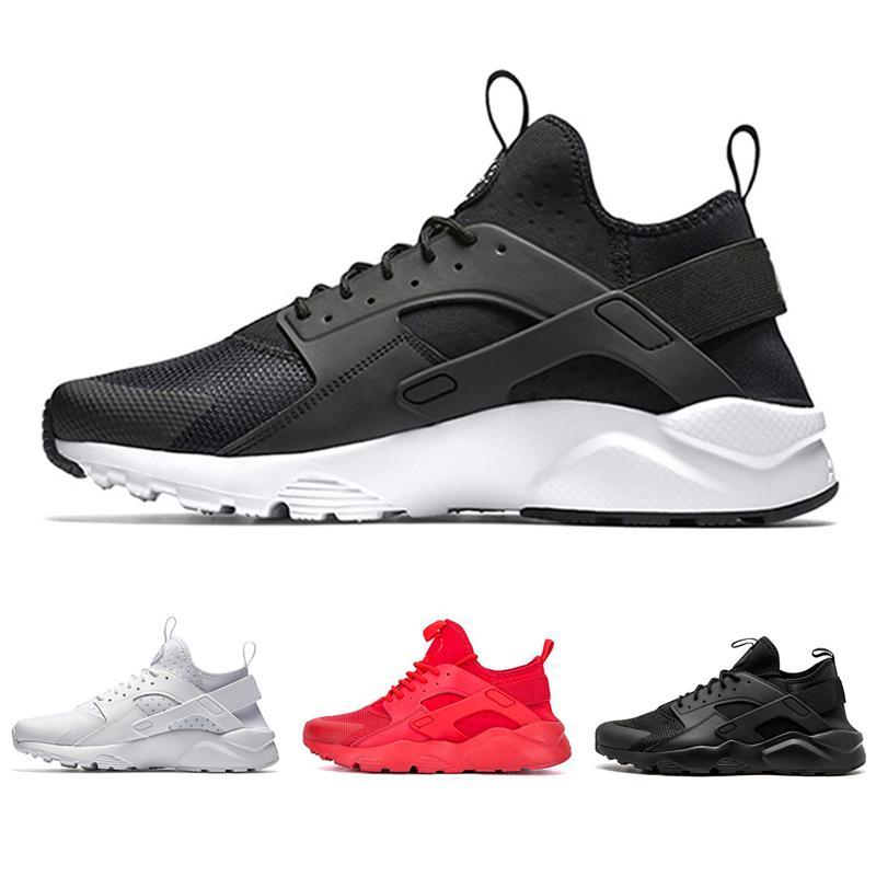 huarache  ايس huarache الرابع 4.0 iv الرجال الاحذية ثلاثية أسود أبيض أحمر الأزياء huaraches 1.0 رجل المدربين النساء الرياضة رياضة 36-45