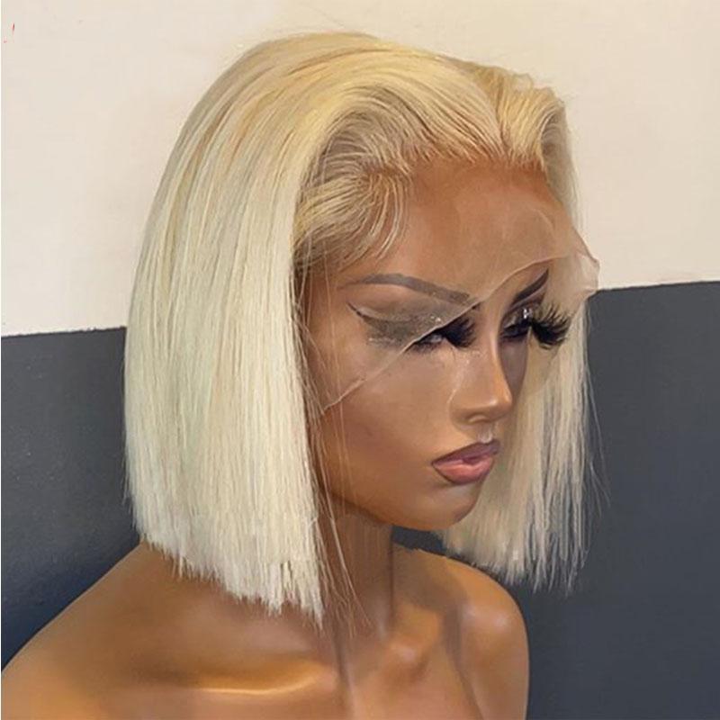 Blondine vorberufliche stumpfe schnitte kurze bob weiche gerade spitze frontperücken synthetische 1b30 ombre farbe für schwarze frauen mit babyhaare