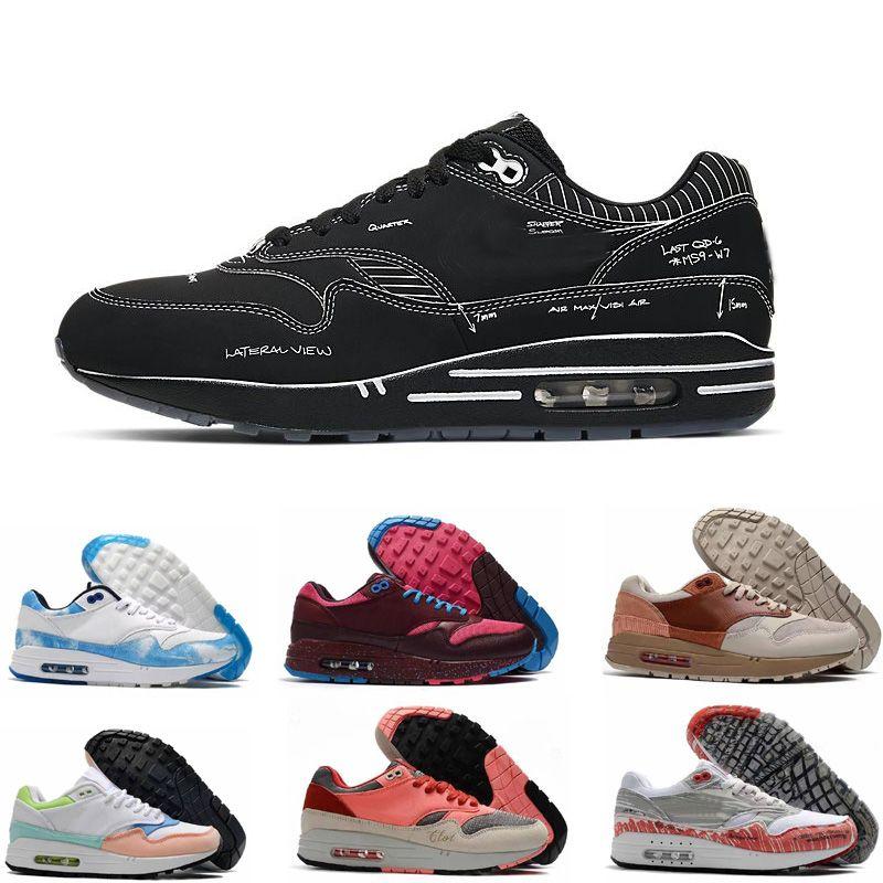 Sapatos pintados à mão Graffiti para Homens Mulheres Trainer 1 Running Sport Sneaker