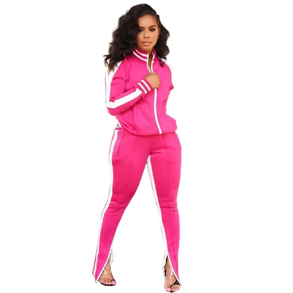 Anzüge Designer Zweiteilige langärmelige Womens Sweat Sportjacke Hosen Set Jogger Winter Trainingsanzug Damen Casual Outfits Sweat Suits Vredl