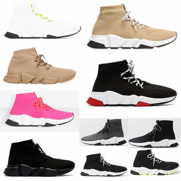 Sock Speed Shoel Shoel Formadores Sapato Balencaiga Trainer Preto Vermelho Triplo 2.0 Meias Planas Botas Sapatilhas Sapatos Casuais 35-45 G6kz #