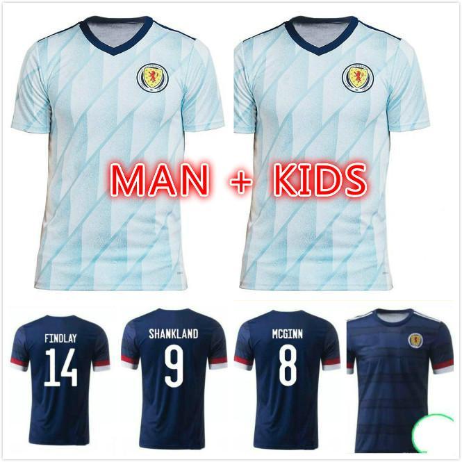 Escocia Fútbol Jerseys 2021 2022 Robertson McTominay Camisa de Fútbol Christie McGregor McGinn Dykes Hombres Niños Alojamiento Uniforme Camisa