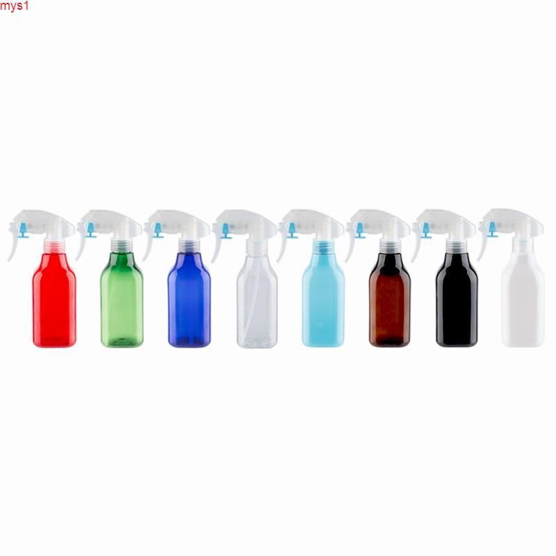 Botella de plástico cuadrada vacía con bomba de gatillo Pulverizador de color Riego PET PET CONTENEDOR MIST 20PCS / LOTHOT CANTY