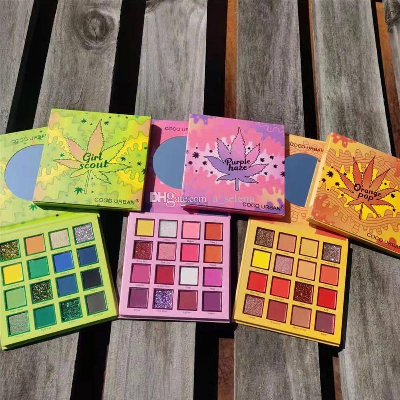 Cocourban yeux maquillage maquillage tache à paupières 16 couleurs confortable mate ombre à paupières mates palettes brun chaudes durables