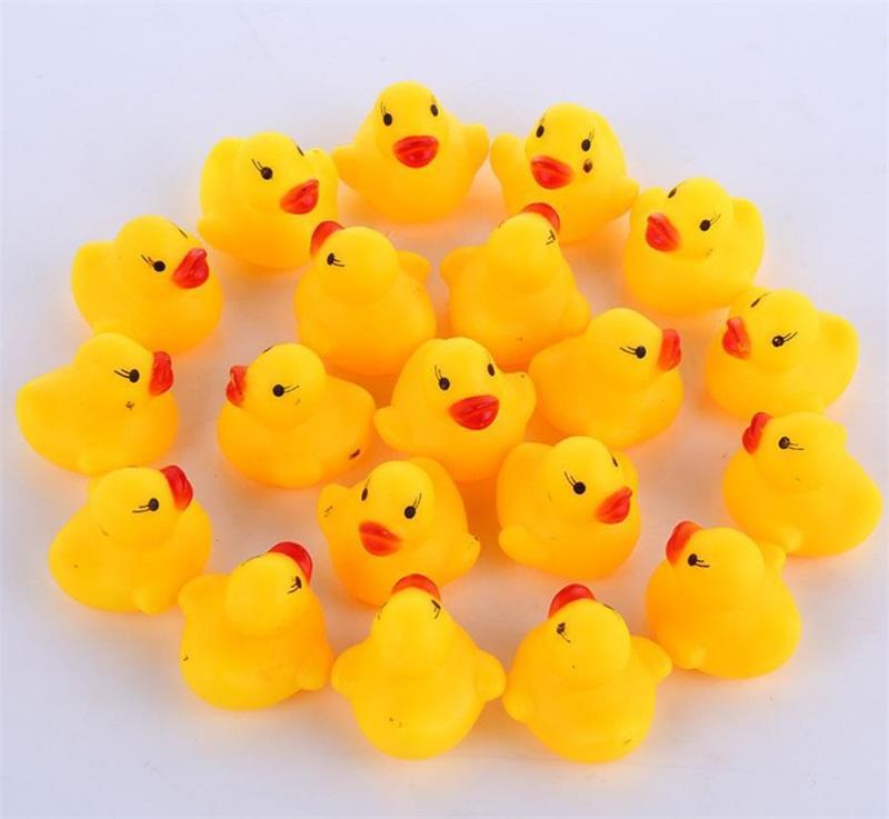 미니 고무 오리 목욕 오리 PVC 사운드 플로팅 오리 아기 목욕 물 장난감을위한 비치 선물 149 B3