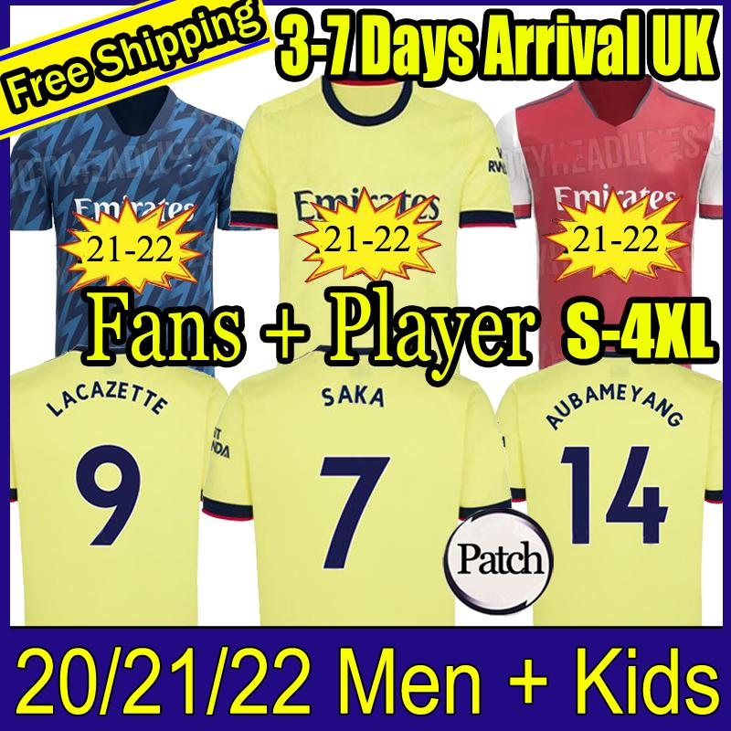 Fan Player versione Arsen Soccer Jersey 20 21 22 Odegaard Pepe Saka Nicolas Tierney Henry Willian Maitland-Niles 2021 2022 Camicie da calcio Bambini