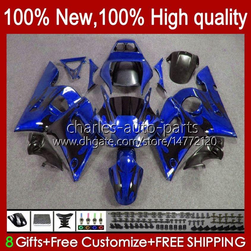 ヤマハYZF-600 YZF R6 R6 600CC YZFR6 1999 1999 00 01 02 Bodywork 1no.41 YZF 600 CCカウリングYZF-R6 98-02 YZF600 98 99 2000 2001 2002 ABSフェアリングキットブラックフレームBLK