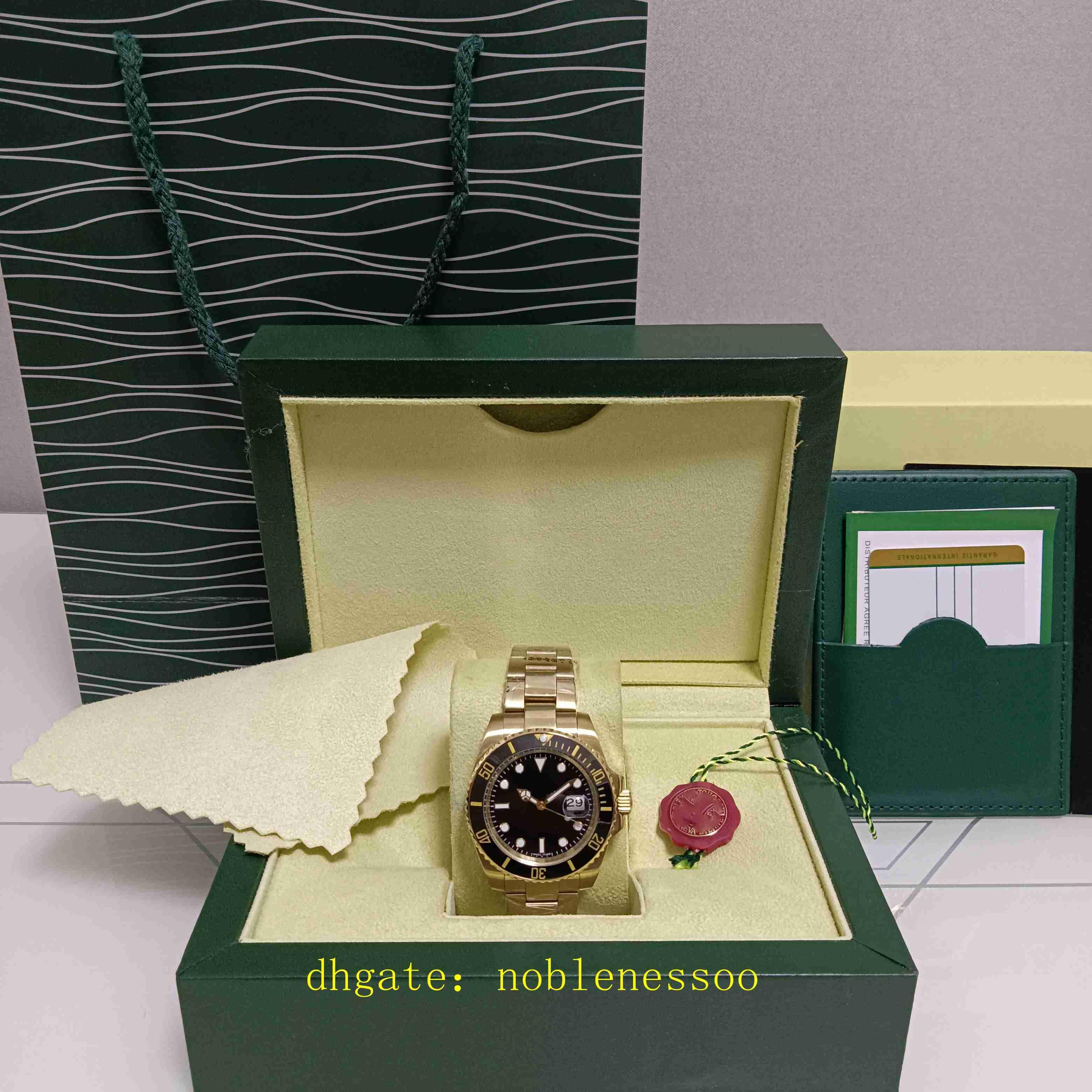 8 Färg med originallåda 116618 Watch Mäns 40mm 18k gul guld Oyster Perpetual Ceramic Bezel 114060 116618LB 116619LB 116618LN 116613LB 116610LN Mens Klockor