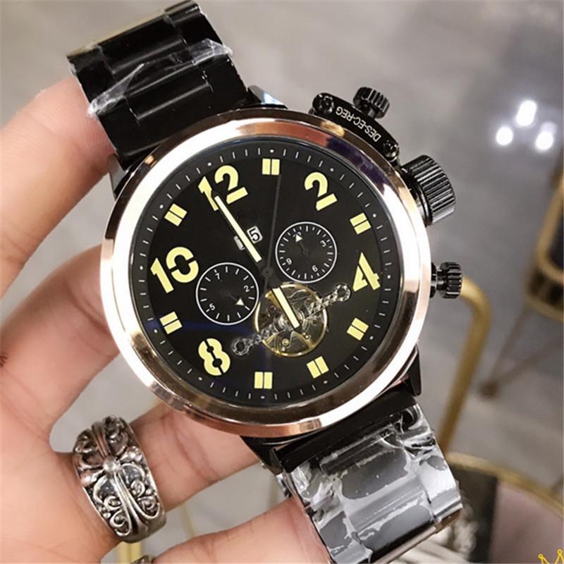 사파이어 유리 자동 시계 남자 탑 브랜드 럭셔리 전체 강철 스포츠 기계식 시계 패션 50m 방수 남성 시계