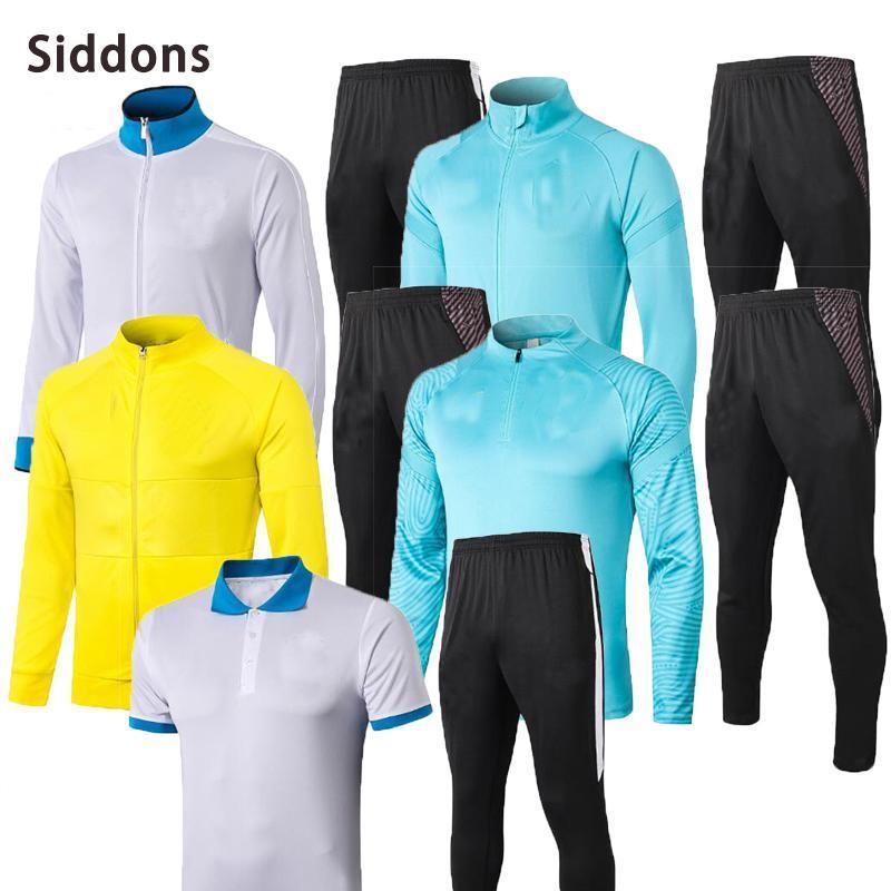 Siddons 2021 s homens tracksuit Brasil treinamento de futebol terno Survection adulto de manga comprida jaqueta sportswear jogging faixas dos homens