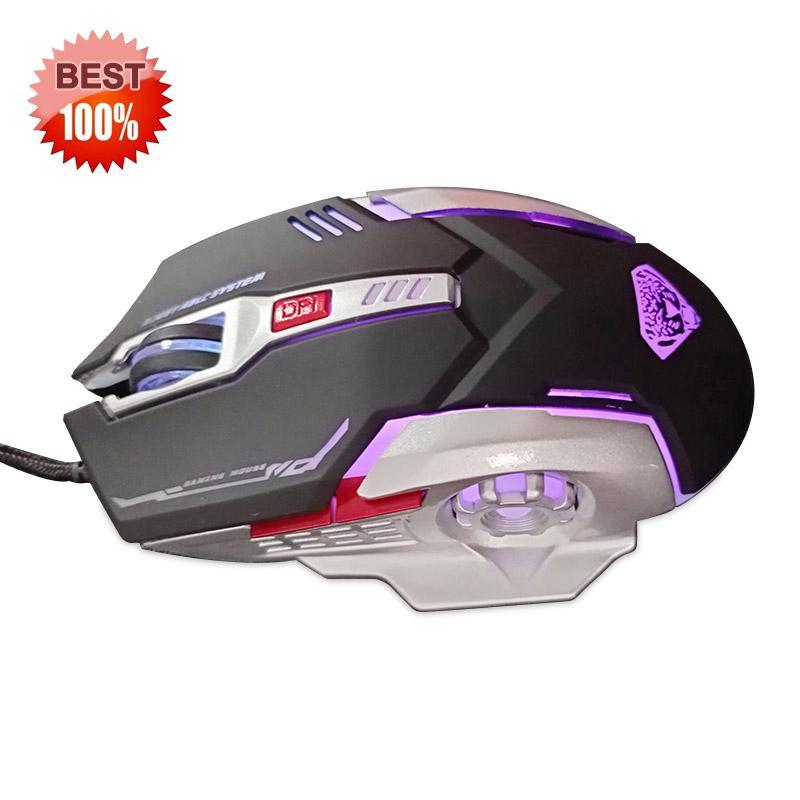 Mouse da gioco USB G402 Motici meccanici cablato Ottico ergonomico ergonomico 4 regolabili tasto 6D LED retroilluminazione Gamer Plug e riproduzione ad alta precisione per computer portatile gioco