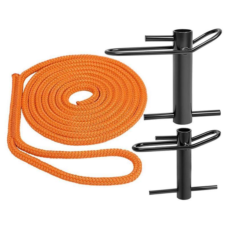3/4 Inchx14 pies Acero Kit de aparejos de descenso lento, dispositivo de fricción de cuerda de árbol de honda para arboristas Lumberjack, etc. Cordones, eslingas y webb