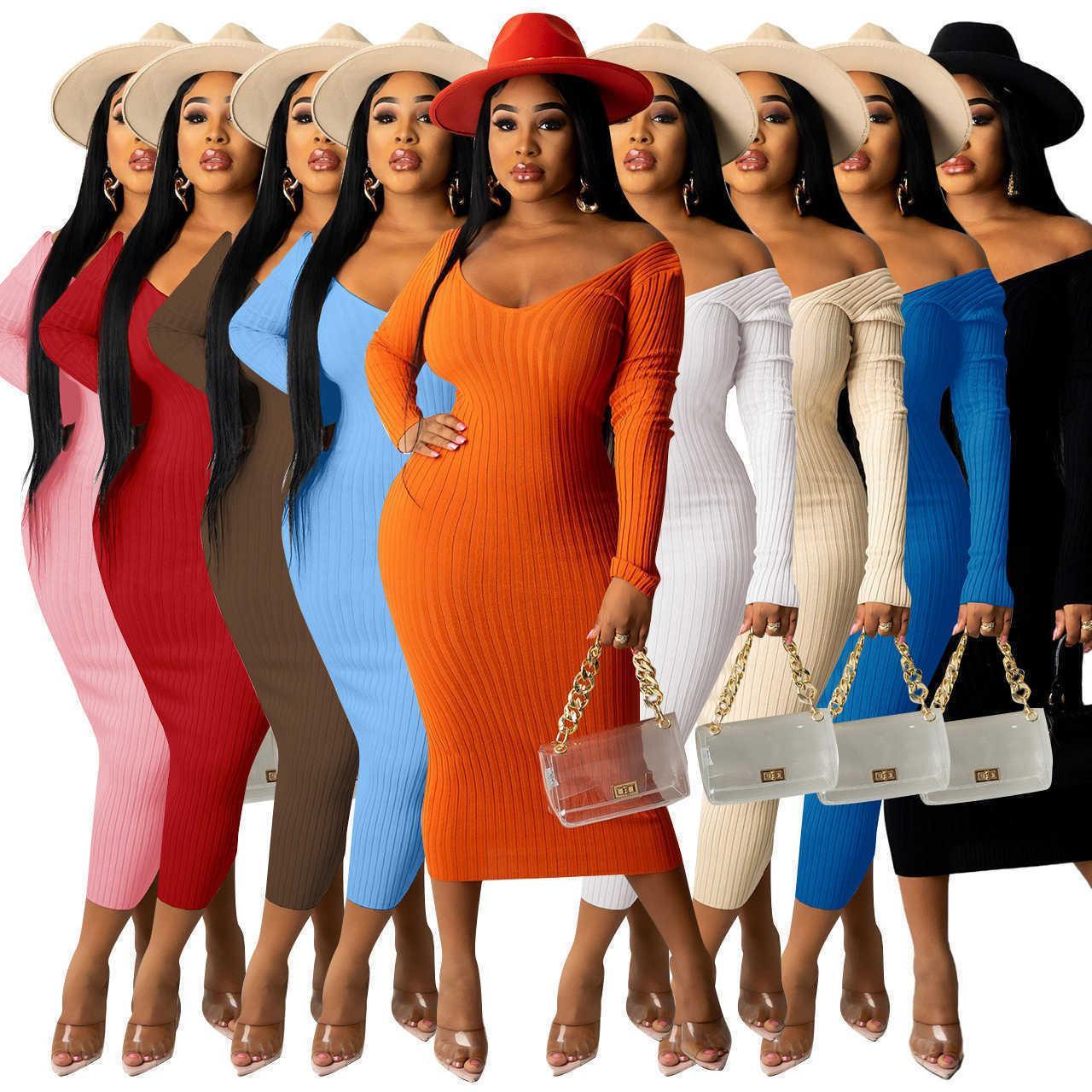 2020 가을 겨울 캐주얼 드레스 후드 스웨터 긴 소매는 여성을위한 편지 드레스를 인쇄 여자