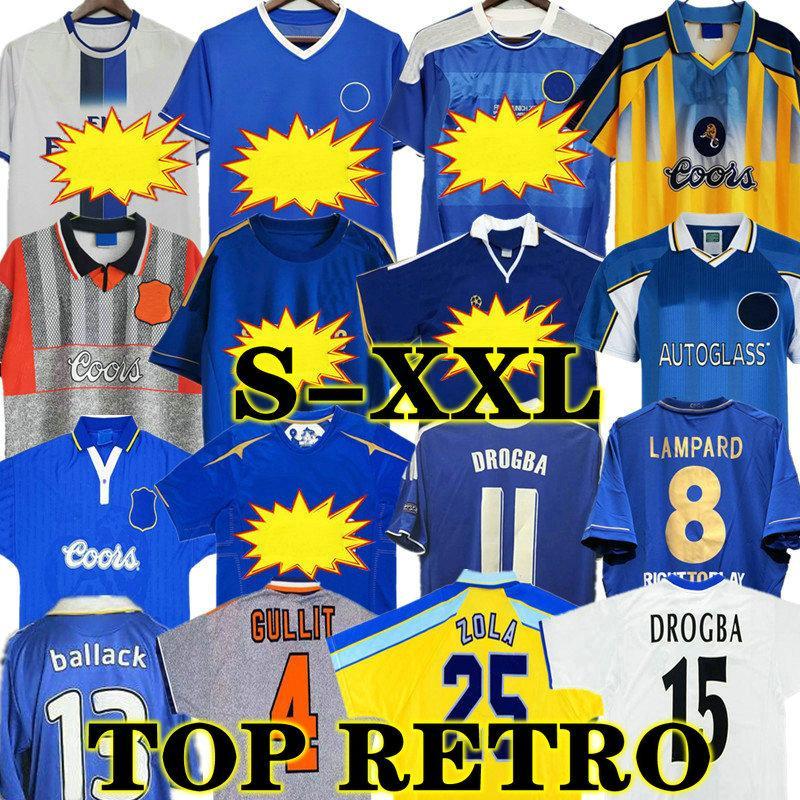 Drogba 2011 Torres Chelsea CFC Retro Fussball Jersey Lampard 11 12 Finale 96 97 99 82 Fußball Hemd Vintage Crespo Classic 03 05 06 Cole Zola Vialli 07 08