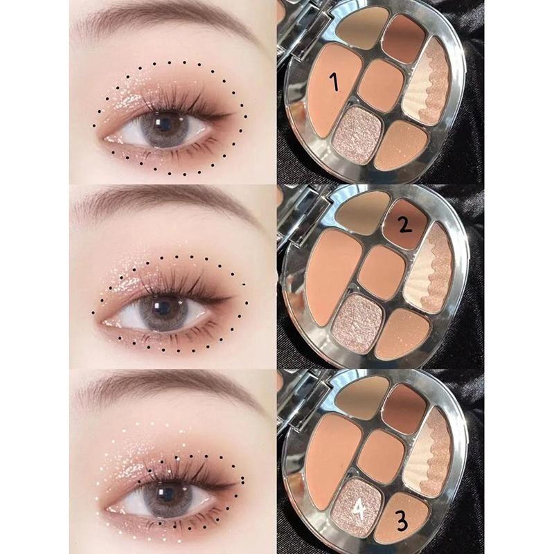 Eye Shadow Alta qualità 8 colori Amber Ombretto Tavolozza opaca scintillante naturalmente lunga durata senza macchie