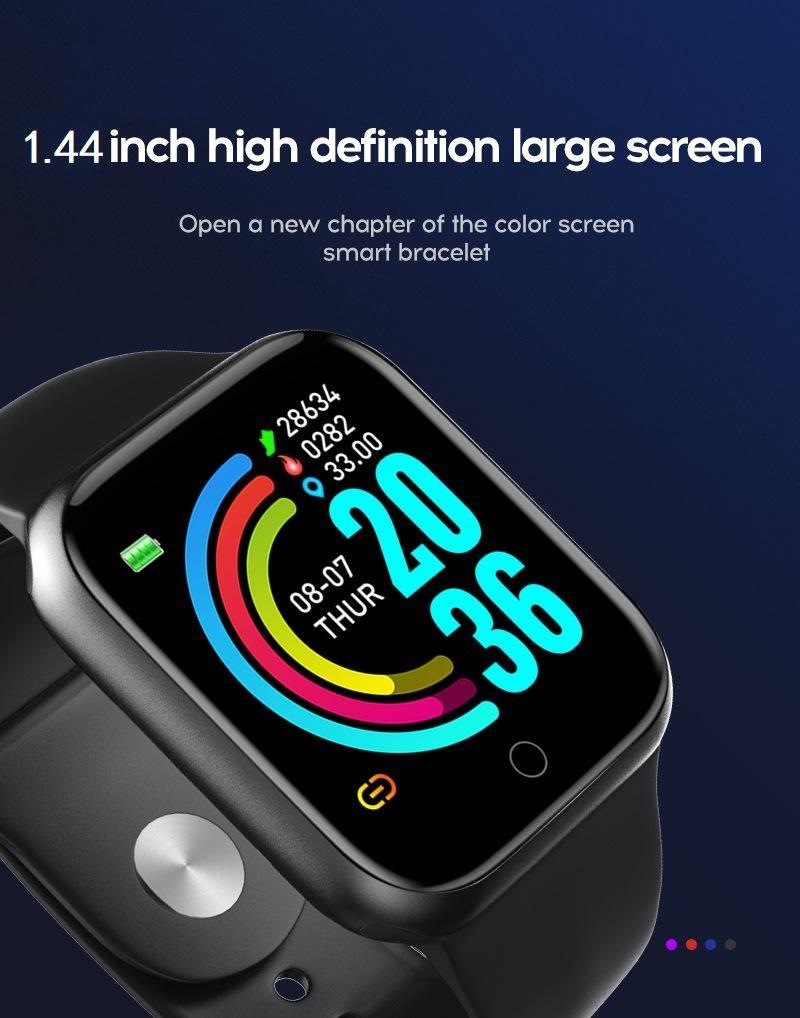 Android ve iOS Telefonları için Kusurlu Akıllı İzle Telefonlar Uyumlu iPhone Samsung, Erkekler kadın Su Geçirmez Tracker Spor İzle Kalp Hızı Monitörü