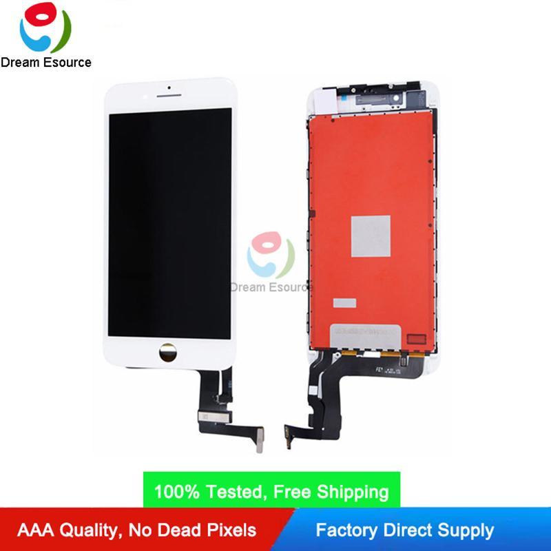 عرض كامل مستقطب LCD لوحة ل iPhone 7P 8P 5.5 بوصة لمس الشاشة محول الأرقام الجمعية عالية السطوع مجانا دي إتش إل