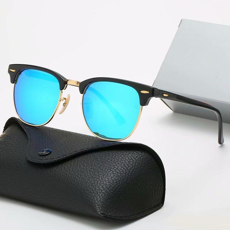 Occhiali da sole da uomo PILOTA DONNICI DISEGNO DI LUSSO Designer Polarizzato Designer Occhiali da sole UV400 Occhiali dayewear Glasses Telaio in metallo Lenti Polaroid con scatola